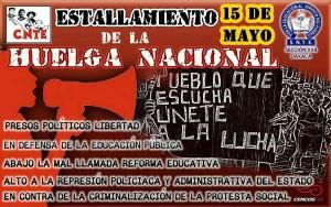 Cartel Huelga Nacional mayo 2016