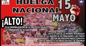 Cartel Paro Nacional mayo 2016