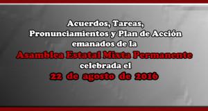 ACUERDOS Asamblea Mixta 22 agosto 2016