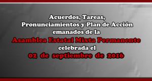 ACUERDOS Asamblea Mixta 2 septiembre 2016