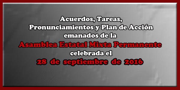 ACUERDOS Asamblea Mixta 28 septiembre 2016