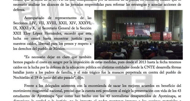 Boletín - OAXACA EN PIE DE LUCHA DESDE EL CONGRESO NACIONAL  - 25 marzo 2017