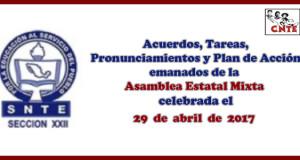 ACUERDOS Asamblea Estatal Mixta 29 abril 2017