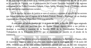 Boletín - 14 DE JUNIO NI PERDON NI OLVIDO - 14 junio 2017