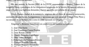Boletín - Alto a la represión en Chiapas, libertad inmediata a los compañeros - 20 JUNIO 2017