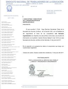 Convocatoria a los mal llamados regularizados para la reunión de información el día 14 de junio de 2017