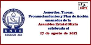 ACUERDOS Asamblea Mixta 17 agosto 2017