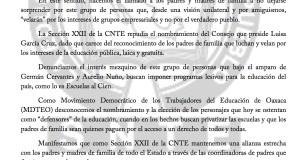 Boletín- CONSEJO DE PADRES ESPURIO Y SIN CONSENSO POPULAR- 10 agosto 2017