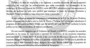 Boletín- INCUMPLIMIENTO DE ACUERDOS - 16 agosto 2017