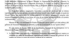 Boletín- SOLIDARIDAD CON EL PUEBLO VENEZOLANO - 16 agosto 2017