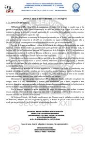 Boletin - FUERA EPN Y SUS GRUPOS DE CHOQUE - 7 septiembre 2017