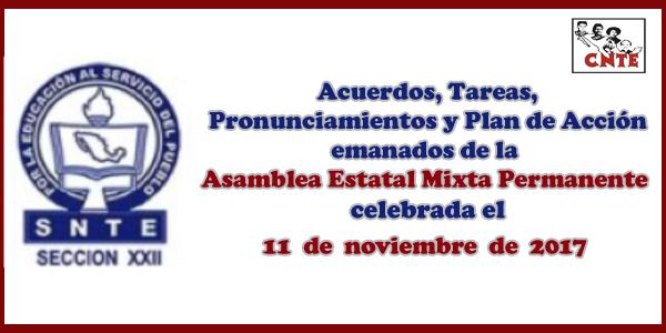 ACUERDOS Asamblea Mixta 11 noviembre 2017