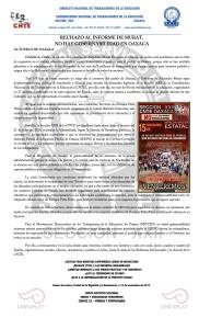 Boletín - RECHAZO AL INFORME DE MURAT - 15 noviembre 2017