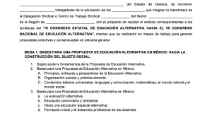 Documento de propuestas para las mesas de trabajo del VI Congreso Estatal de Educación Alternativa  diciembre 2017