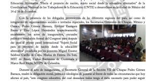 Boletín -ARRANCA CONGRESO NACIONAL DE LA CNTE EN RECHAZO A LA REFORMA EDUCATIVA - 14 DICIEMBRE 2017(1:2)