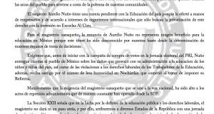 Boletín - NUÑO TIENE CUENTAS PENDIENTES CON LA EDUCACIÓN EN MEXICO - 6 DICIEMBRE 2017