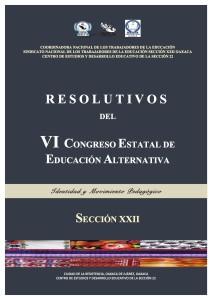 RESOLUTIVOS VI CONGRESO ESTATAL