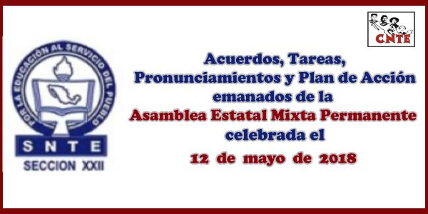 ACUERDOS Asamblea Mixta 12 mayo 2018