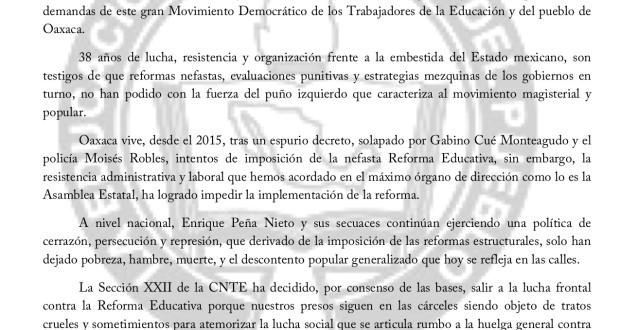 Boletín- Rumbo al Paro indefinido - 28 mayo 2018(1:2)