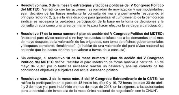 Documento Elementos para la Consulta a las bases mayo 2018